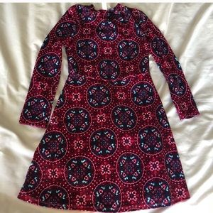Girls xs 4/5 70s style velvet dress